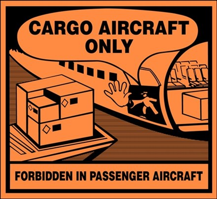 Label: Danger Air Cargo Only 103831